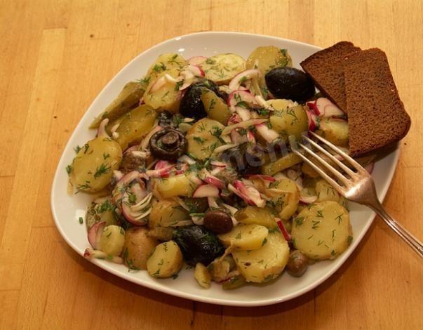 Грузди жареные с картофелем