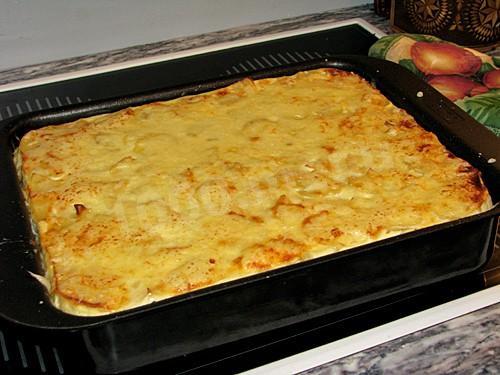 запеканка картофельная с сыром и чесноком