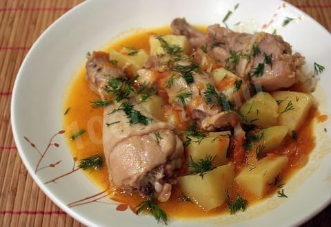 тушеная курица рецепт с фото пошагово