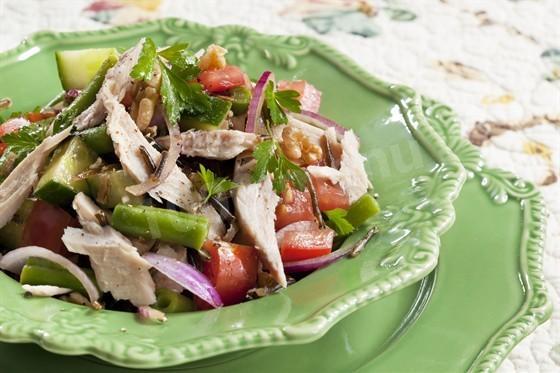 Салат из тунца в виде пюре