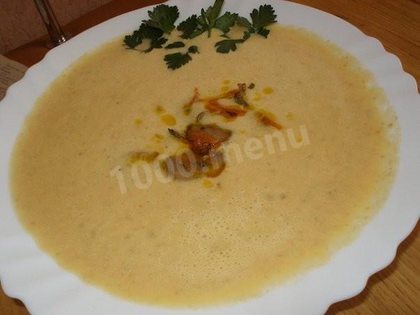 Суп пюре из тыквы и грибов