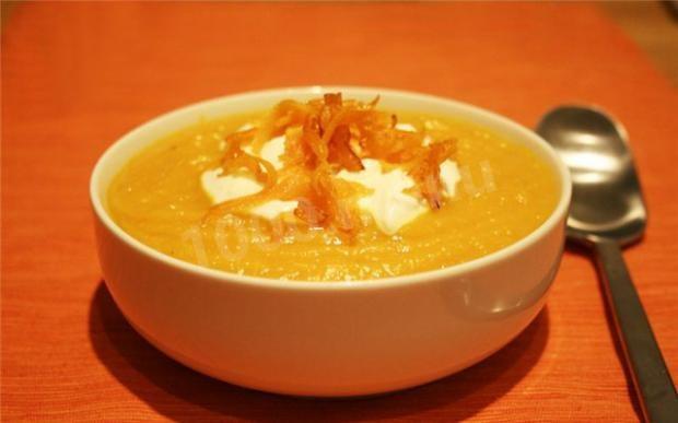 Калорийность суп пюре тыквенный рецепт