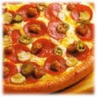 Пицца с семгой и руколой