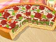 ИграБольшая чикагская пицца относится к категорииСервировка еды. Точнее, ее украшению. Из множества вариантов начинок выбираем наиболее приятный для себя, а после любуемся результатом собственных трудов.