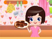 В игреТри рецепта шоколадного печенья нужно успеть за максимально короткое время приготовить эти самые печеньки. Этапы приготовления пошаговые - берешь продукты и используешь их по назначению (и по порядку).