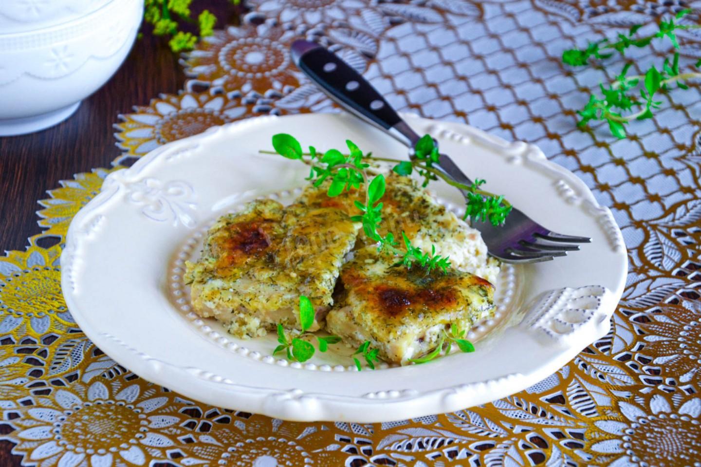 Запеканка из филе рыбы в сливках с твердым сыром