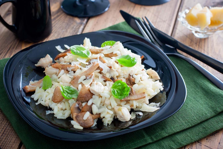 ризотто с курицей и грибами калорийность