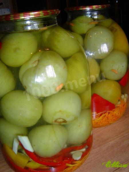 зеленые помидоры на зиму рецепты