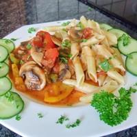 Рагу из грибов и болгарского перца