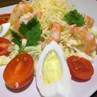 Салат креветки китайская капуста
