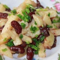 Тушеный картофель с фасолью