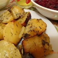 Картофель запеченный в рукаве в духовке постный