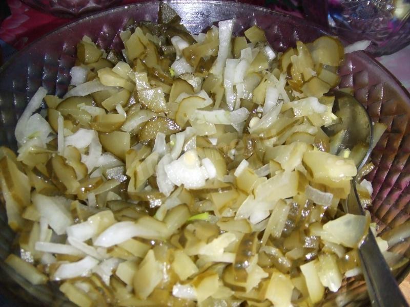 салат с солеными грибами рецепт простой рецепт
