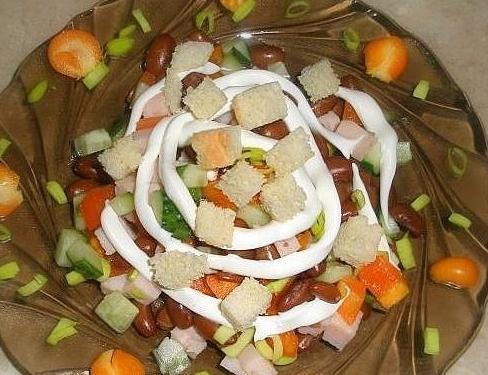 Салат хрустик с сухариками рекомендации