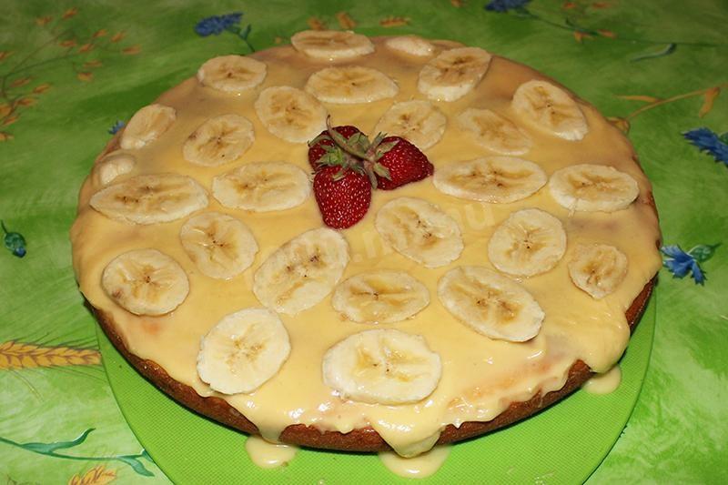 Рецепт манник на кефире с бананами рецепт