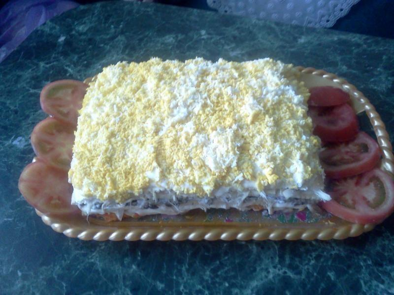 торт наполеон с курицей рецепт