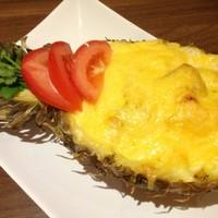 Фаршированный ананас с куриными грудками