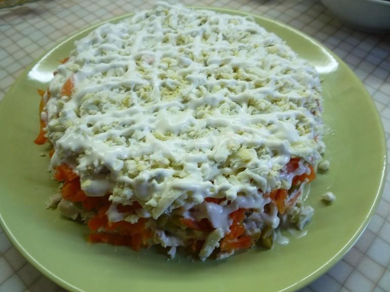 Салат подарок рецепт с курицей 35