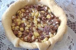 Пирог с картошкой и фаршем в духовке Балиш по-татарски