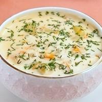 Сырный суп с курицей и плавленным сыром