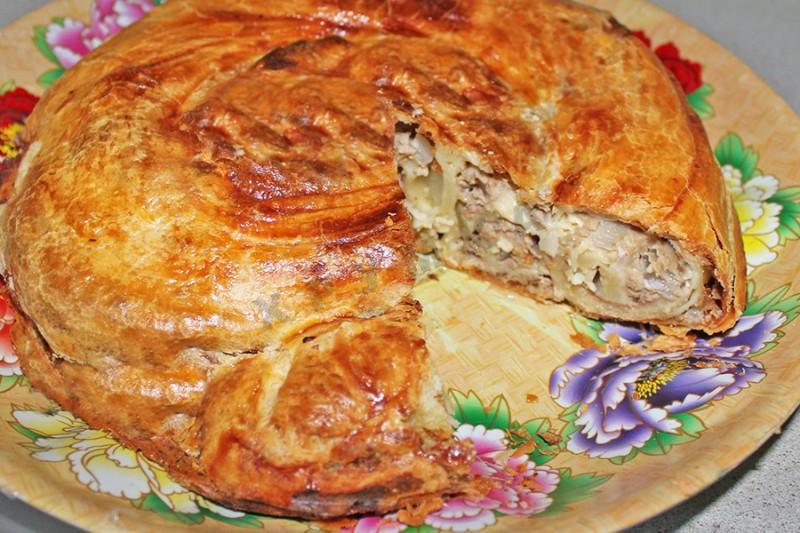 Бурек с мясом пошаговое