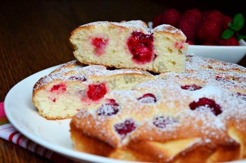 бисквитный торт с малиной рецепт пошаговый фото рецепт