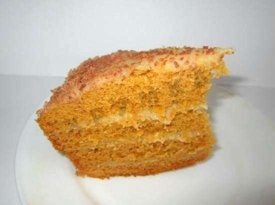 Торт Рыжик в мультиварке