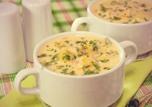 приготовить суп с сыром плавленным
