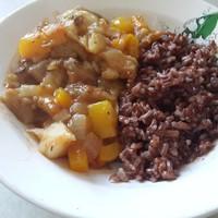 Овощное рагу из баклажанов с грибами и овощами