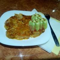 Пангасиус с овощами в духовке