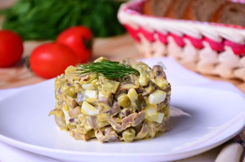салат с куриные желудки рецепты