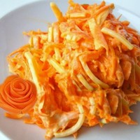 Простой салат морковь сыр чеснок майонез