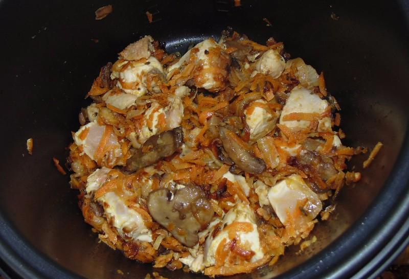 рецепт мультиварке плов с грибами фото