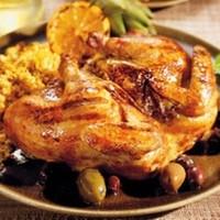 цыпленок целиком жаренный на решетке