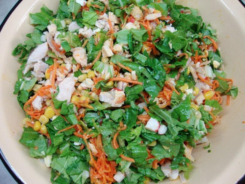 Салат валерия с корейской морковкой и крабовыми палочками