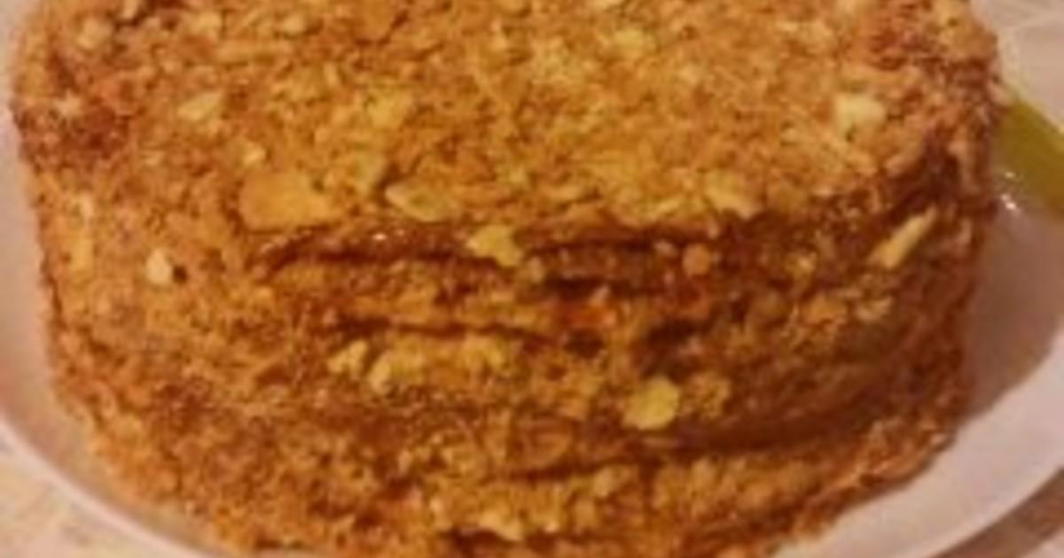 Торт наполеон со сгущенкой пошаговый рецепт с рецепт наполеона