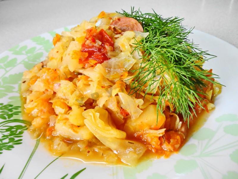 солянка рецепт с фото пошагово с картошкой и капустой
