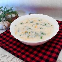 Белковый суп с курицей