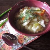 Рыбный суп уха из минтая