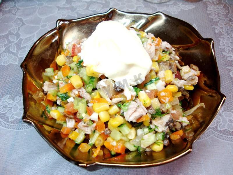 Царский салат с грибами рецепт