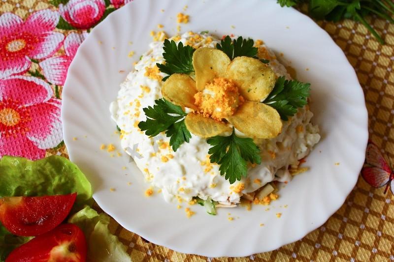 Рецепт салата орхидея с фото