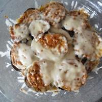 Баклажаны и кабачки с сыром в микроволновке
