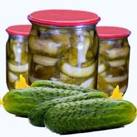 Салат из огурцов на зиму с чесноком укропом зеленью