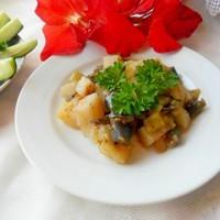Тушеные баклажаны с картошкой