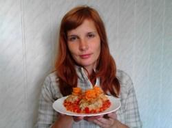 Ежики из фарша с рисом на сковороде с подливой