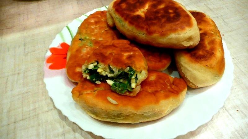 Пирожки с рисом и яйцом пошагово с