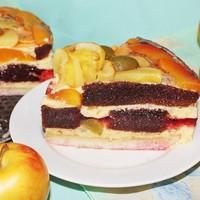 Бисквитный торт Фруктовый