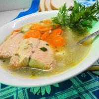 Рыбный суп уха из кеты