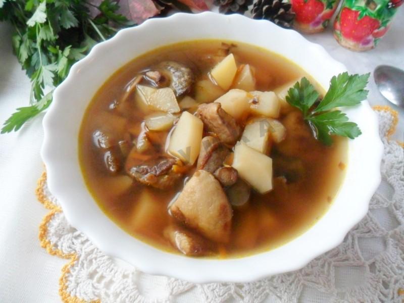 Суп с грибами рецепт с фото пошагово с сыром и