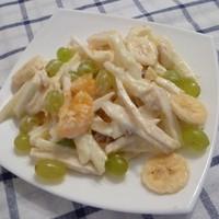 Бразильский салат яблоко, банан